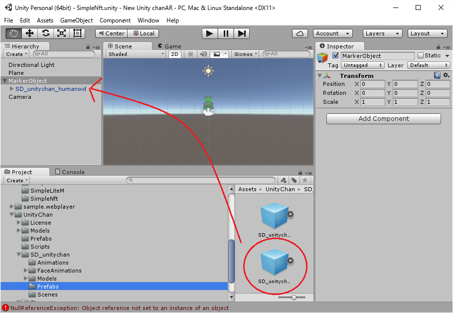 Tutorial of NyARToolkit for Unity With Unity-chan